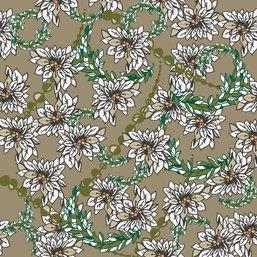 Elegant Christmas White Poinsettia Swags