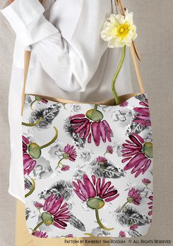 vine open rose PURSE with copyright