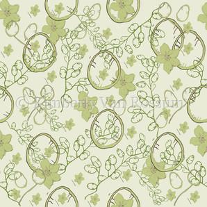 Cottage Dahlia Pattern in Green