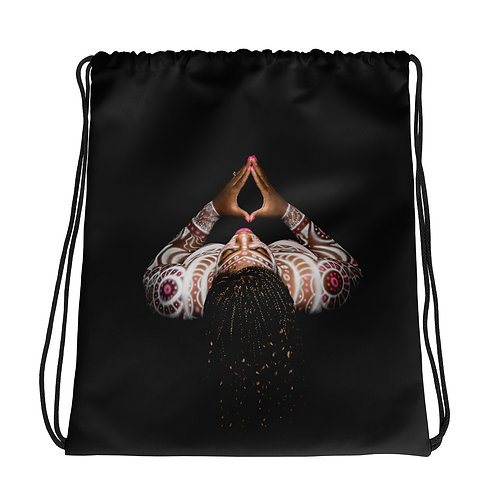 Afrikan Superstar Logo Drawstring bag