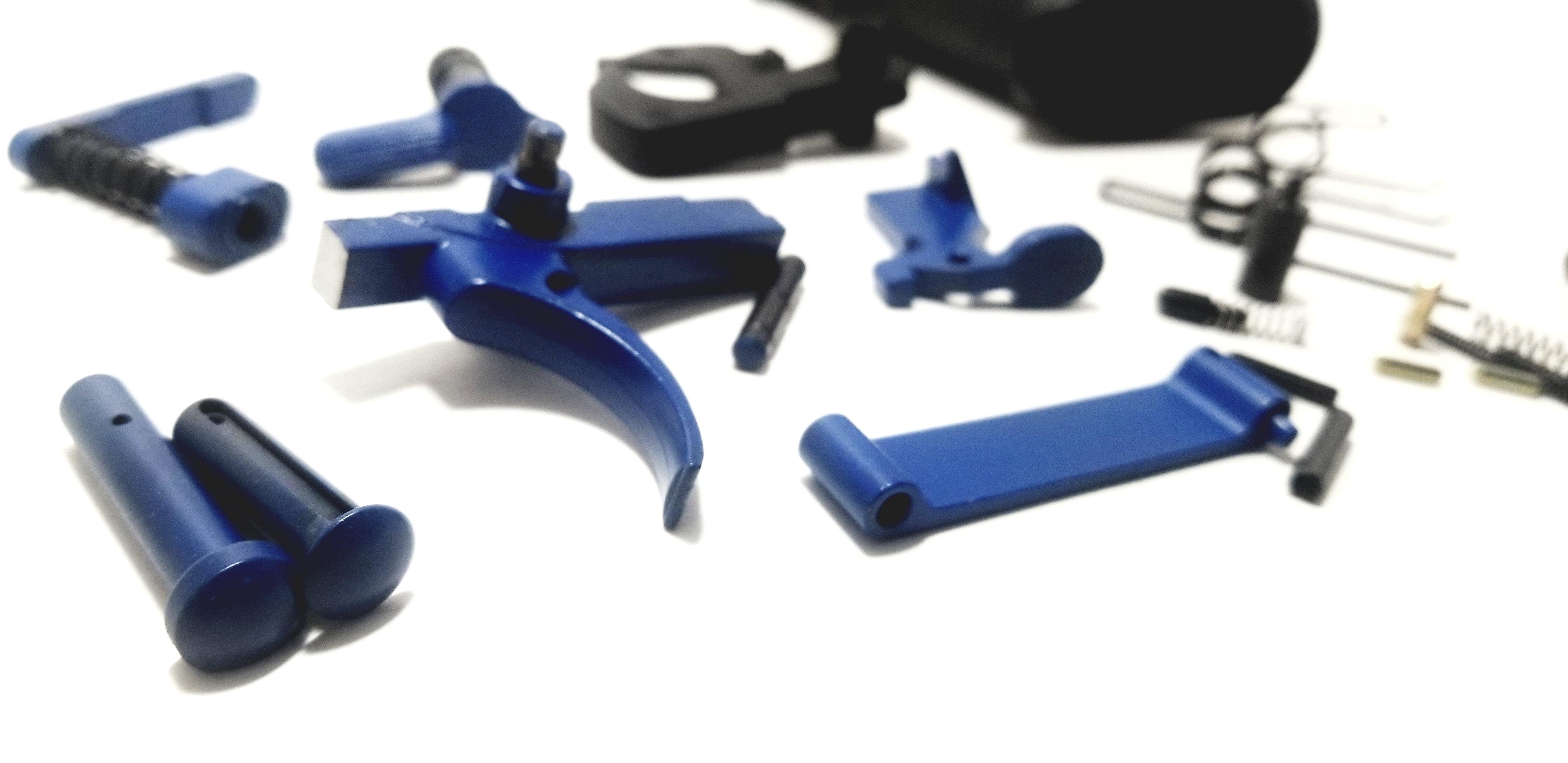AR15 BLUE Lower Parts Kit LPK