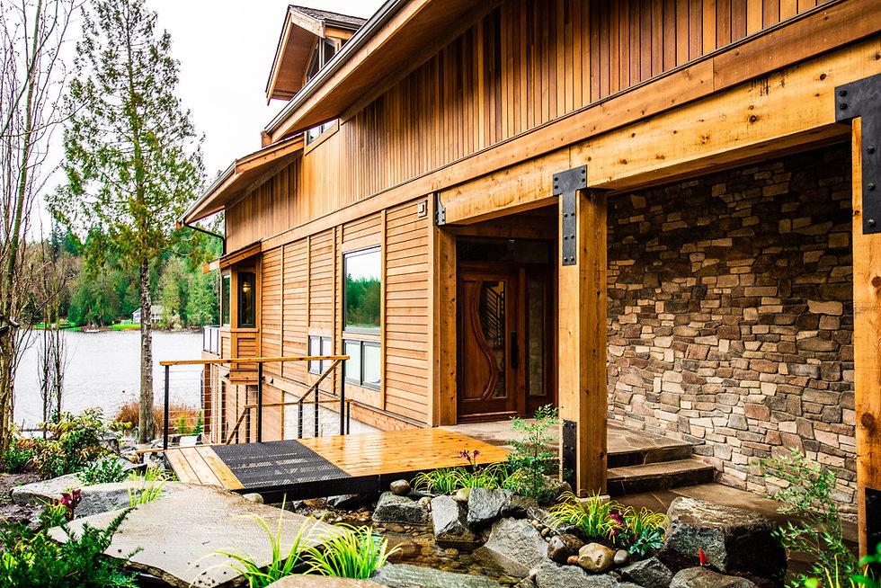 Custom home exterior photo