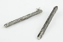 Pendientes Strings plata de ley - elenaperezjoyas.com