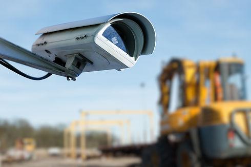 建設現場に監視カメラの設置