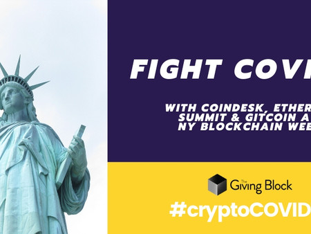 Donate During NY Blockchain Week to Fight COVID-19