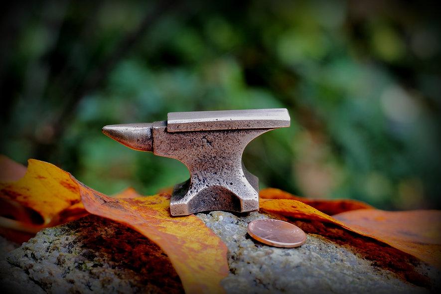 Bronze cast mini anvil