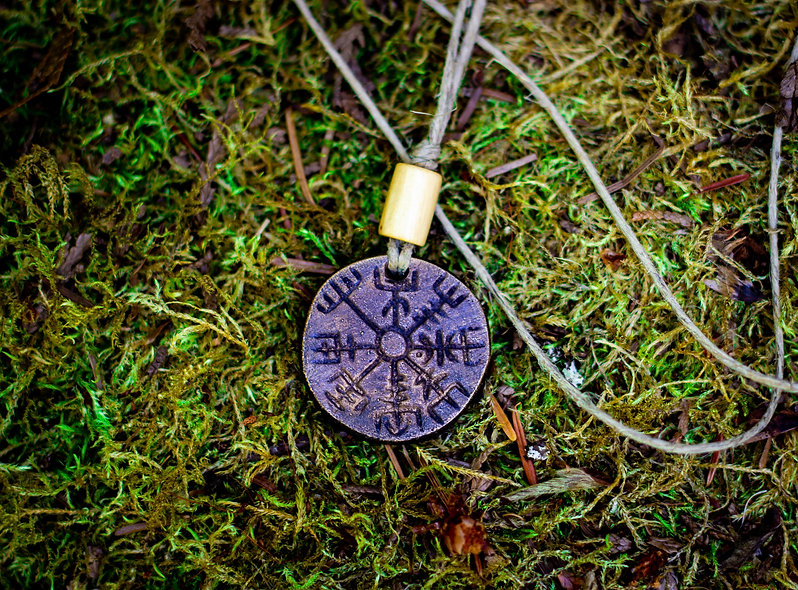 Bronze Vegvisir (Viking Compass)