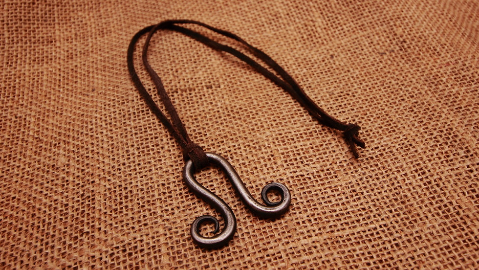 Omega scroll necklace