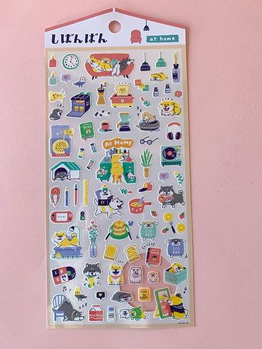 Shiba Home Stickers
