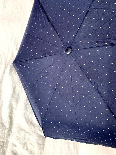 Scalloped Navy Umbrella