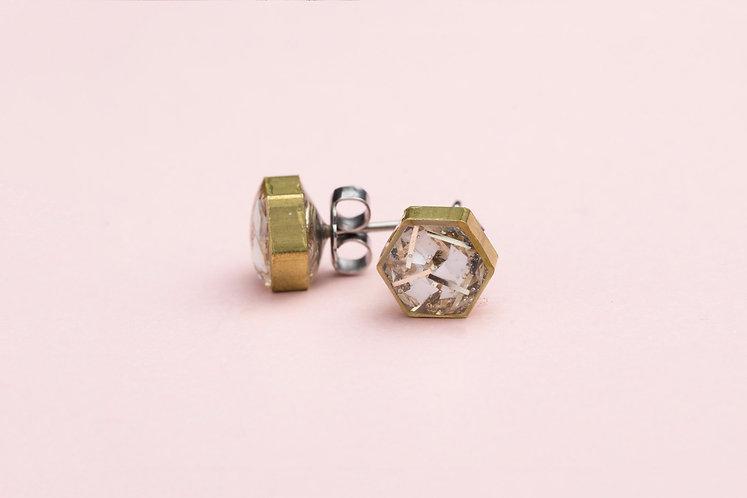 Resin Hexagon Earrings