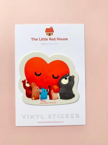 Heart Hug Sticker