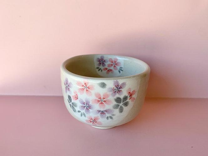 Purple Sakura Matcha Bowl