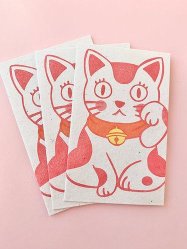 Beckoning Cat Envelope (3pc)