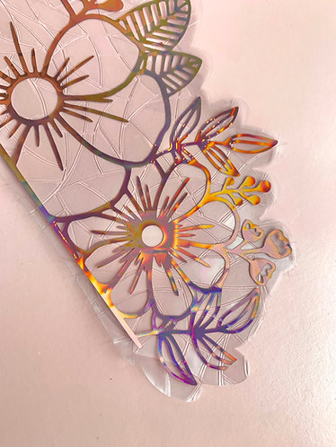 Floral Border Window Cling