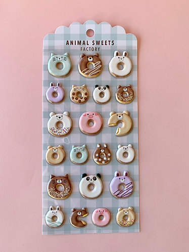 Donut Animal Stickers