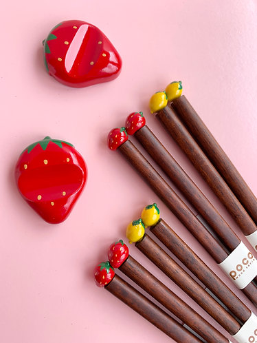 Fruit Themed Chopsticks and Holders
