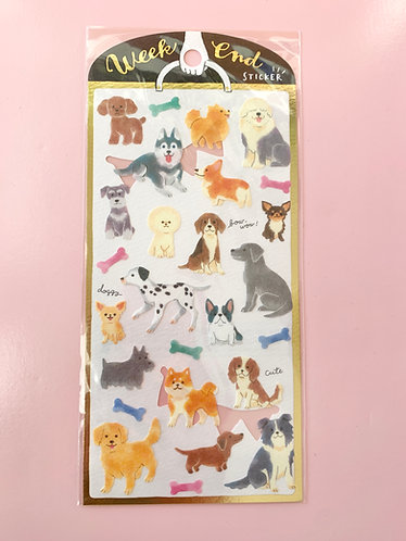 Mixed Dog Stickers