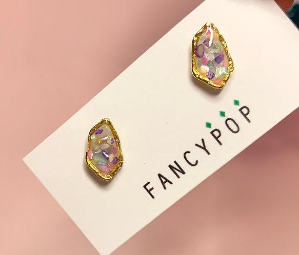 Abstract Resin Earrings