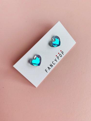 Blue Heart Earring