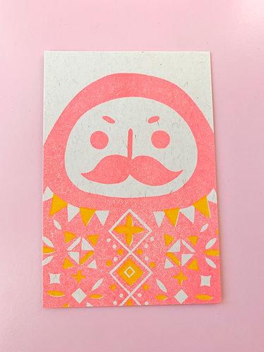 Daruma Post Card