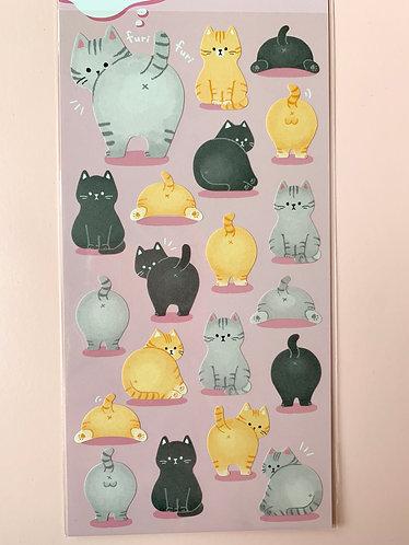 Animal Bum Stickers