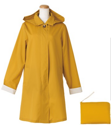 Yellow A-Line Coat