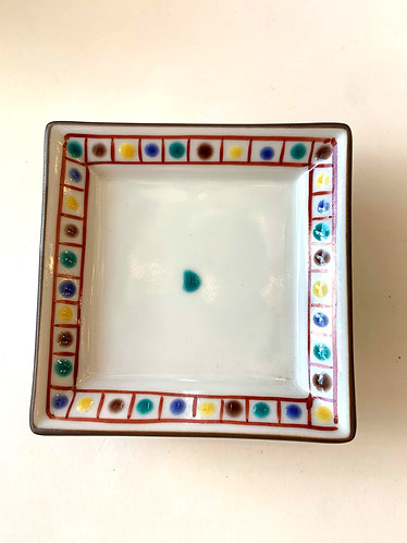 Hand painted square dish
