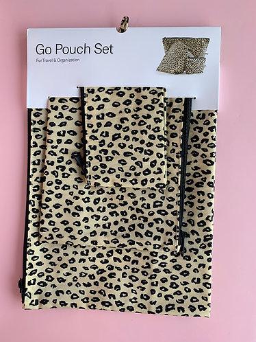 Leopard Pouch Set (Baggu)
