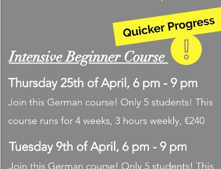 Learn German in our German Beginner Courses