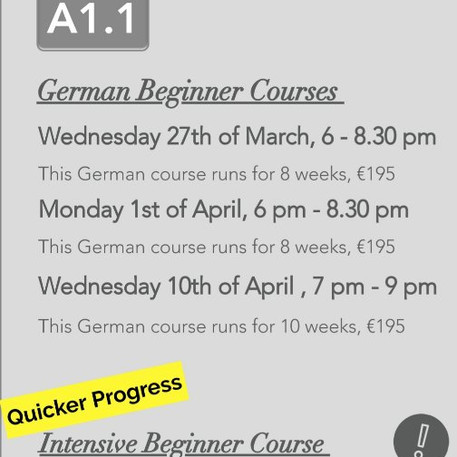 German Courses in Dublin