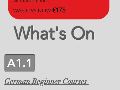Join our German Beginner Course in Dublin