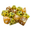 Mixed pile of gold and yellow dice.