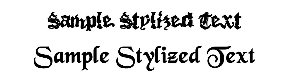 2 lines of sample stylized text.