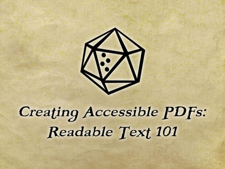 Creating Accessible PDFs: Readable Text 101