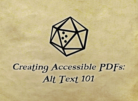 Creating Accessible PDFs: Alt Text 101