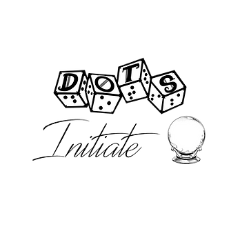 DOTS logo with script style text initiate and an image of a crystal ball on a stand.