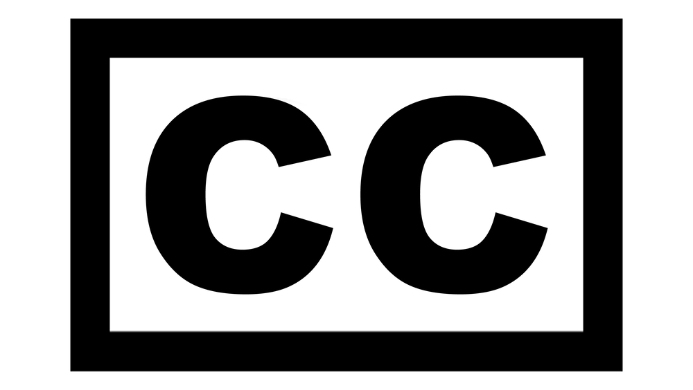 Letters CC inside a black box.