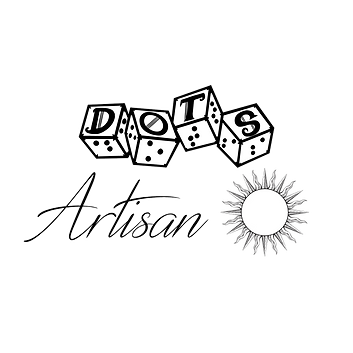 dots 4d6 logo with text reading artisan with graphic of a sun