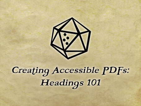 Creating Accessible PDFs: Headings 101