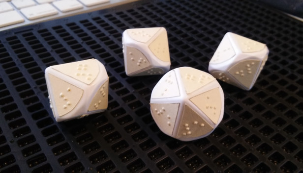 another view of 10 sided dice prototype