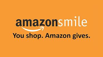 Amazon smile logo with text you shop. amazon gives.