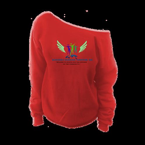 Off The Shoulder Logo Sweatshirt