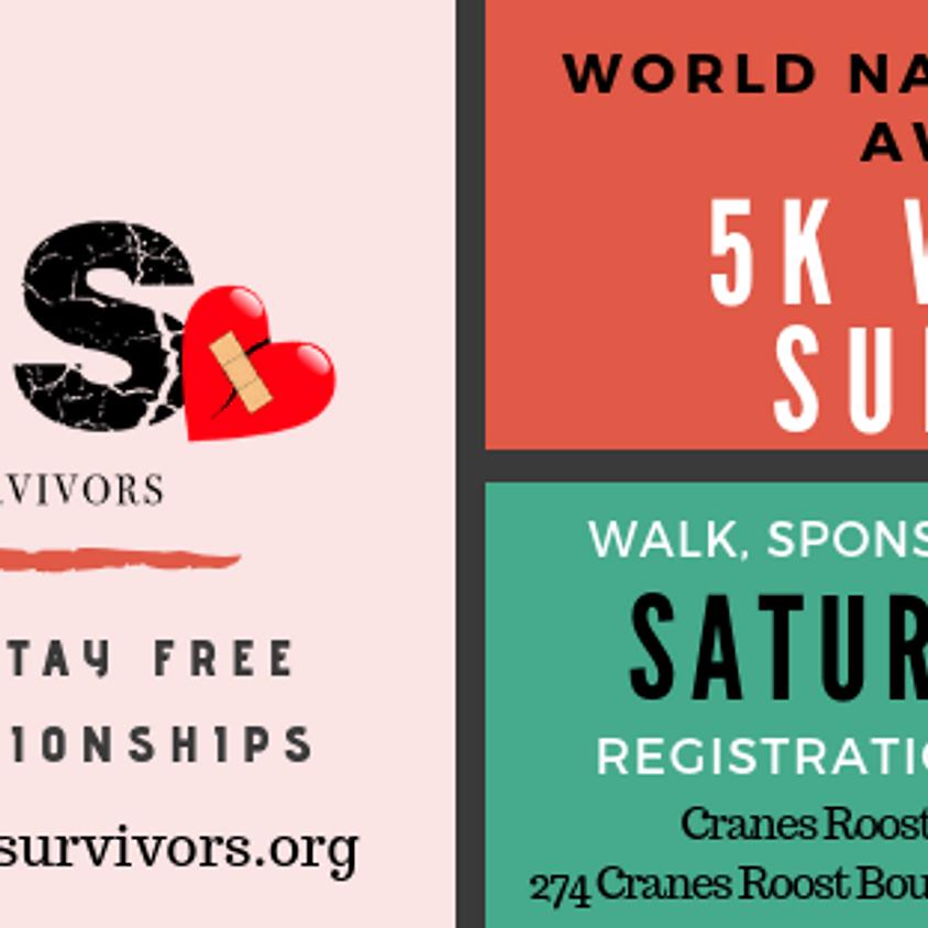 WORLD NARCISSISTIC ABUSE AWARENESS 5K WALK FOR SURVIVORS