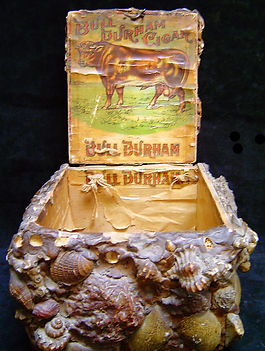 Shell covered cigar box