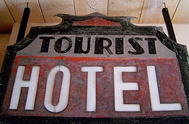 Old tourist hotel sign