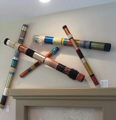 Pickup Sticks over a Fireplace