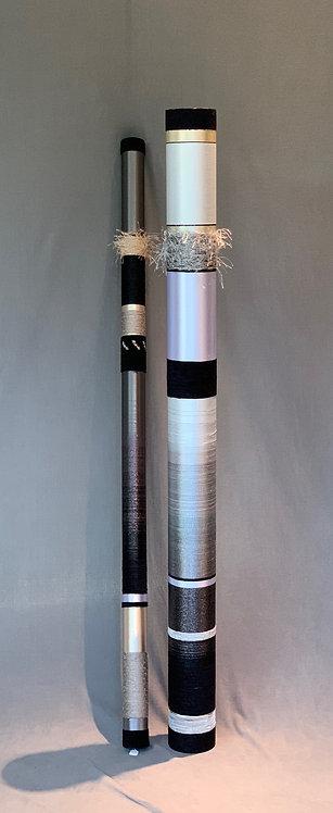 """Quiet Oboes: 60"""" Tenor,  60"""" Bassoon in Silver/Grey/Black"""