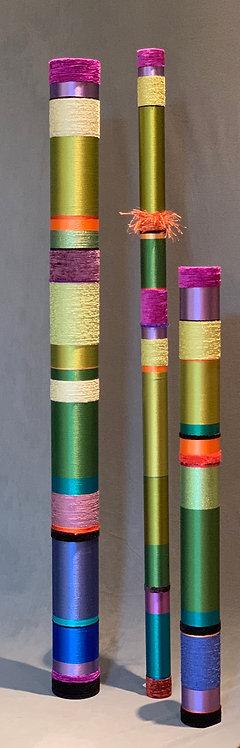 "60""x 5"" Lime Green Bassoon, 60""x2.5""Tenor and 44""x3.5"" Baritone"