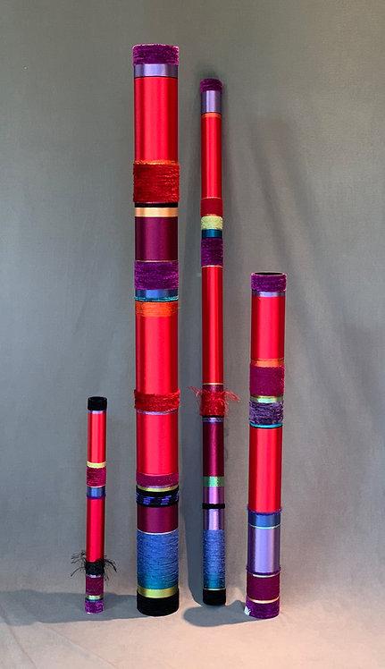 Quiet Oboes in Bright Winter Reds